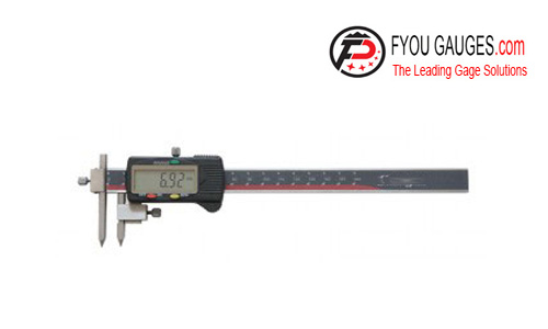 Centerline Digital Caliper with Conical Tips
