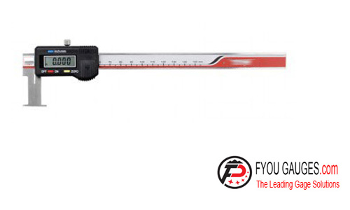 Digital Caliper with Flat Measuring Points for Inside Grooves