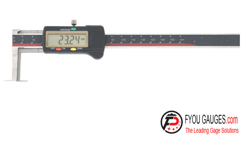 Digital Caliper with Knife-edged Measuring Points for Inside Grooves