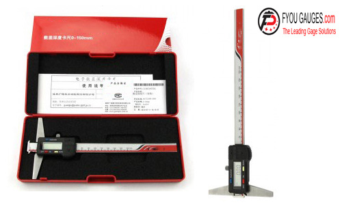 Double Hook Type Digital Depth Gage